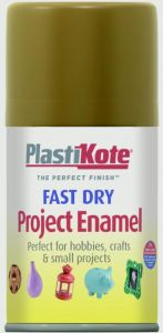 Plastikote Fast Dry Enamel Aerosol Paint Nut Brown - 100Ml