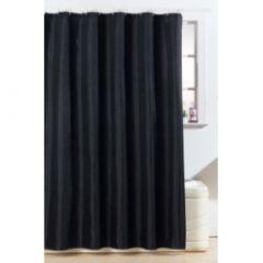 Blue Canyon Polyester Glitter Bling Design Shower Curtain White
