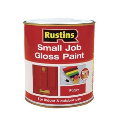 Rustins Small Job Gloss Paint 250Ml Poppy