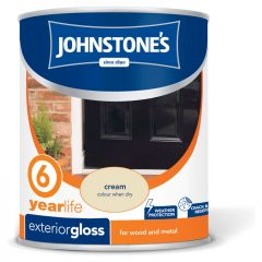 Johnstone's Exterior Hardwearing Gloss 750Ml Cream