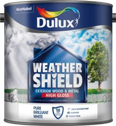 Dulux Weathershield Exterior Gloss 2.5L Pure Brilliant White