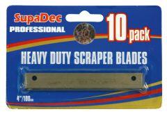 Supadec Angled Scraper Blades Pack Of 10