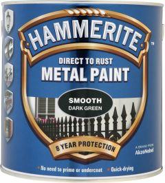 Hammerite Metal Paint Smooth 2.5L Dark Green