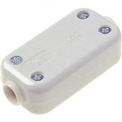 Dencon 5A 2 Terminal Fixed Connector White Pre-Packed