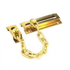 Securit Brass Door Chain 80Mm Polished