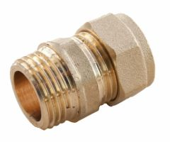 Oracstar Compression Straight Connector - Male 15Mm X 1/2 Mi