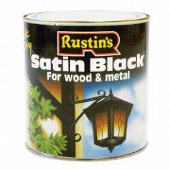 Rustins Quick Dry Satin Black 1L