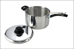 Pendeford Sapphire Collection Polished Deep Chip Pan 25Cm