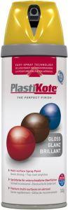 Plastikote Twist & Spray Paint 400Ml Yellow Gloss