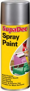 Supadec Spray Paint 400Ml Silver