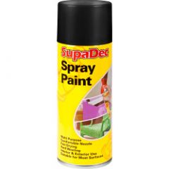 Supadec Spray Paint 400Ml Matt Black