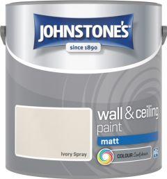 Johnstone's Wall & Ceiling Matt 2.5L Ivory Spray