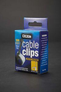 Dencon 5Mm White Round Cable Clips Box 100 Box 100