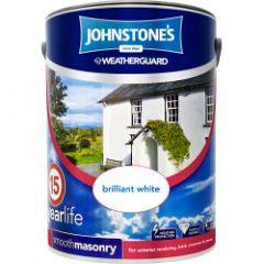Johnstone's Weatherguard Smooth Masonry 5L Brilliant White