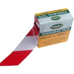 Rodo Red/White Warning Tape 60Mm X 200M