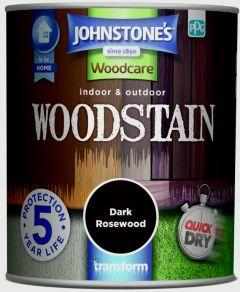 Johnstone's Indoor & Outdoor Woodstain 750Ml Dark Rosewood