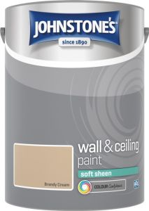 Johnstone's Wall & Ceiling Soft Sheen 5L Brandy Cream