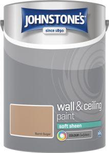 Johnstone's Wall & Ceiling Soft Sheen 5L Burnt Sugar