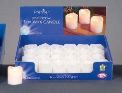 Cream Flicker Wax Candle