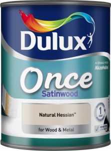 Dulux Once Satinwood 750Ml Natural Hessian