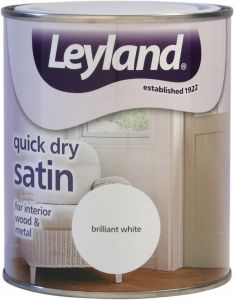 Leyland Quick Dry Satin 750Ml Brilliant White