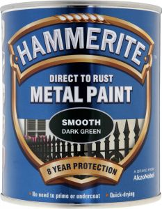 Hammerite Metal Paint Smooth 750Ml Dark Green