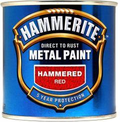 Hammerite Metal Paint Hammered 250Ml Red