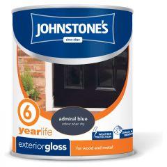 Johnstone's Exterior Hardwearing Gloss 750Ml Admiral Blue