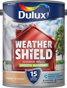 Dulux Weathershield Smooth Masonry Paint 5L Toasted Terracotta
