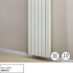 Hanworth Vertical 5 Sections White