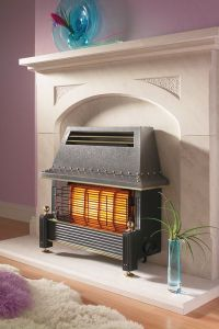 Flavel Regent Oxygen Depletion System Gas Natural Gas Fire Black