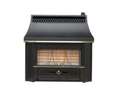 Valor Black Beauty Radiant Natural Gas Fire Black