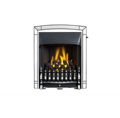 Valor Dream Slimline Convector Fire Chrome