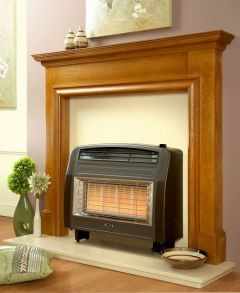 Flavel Strata Natural Gas Fire Brown