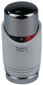 Drayton Trv4 Integral Sensor Head White/Chrome