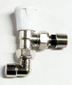 Myson Matchmate 90Degree Wheel-Head Plastic Pipe Valve 10Mm Nickel