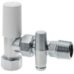 Center Cb Radiator Valve Drain Lockshield With Drain Off 10Mm Chrome Plated