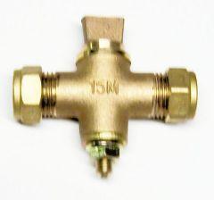 Midland Brass Scottish Pattern Sludge Cock 15Mm Bronze