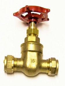 Pegler Yorkshire Prestex 63 Wheelhead Copper X Copper Gate Valve 15Mm Brass