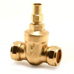Pegler Yorkshire Prestex 63Ls Lockshield Copper X Copper Gate Valve 22Mm Brass