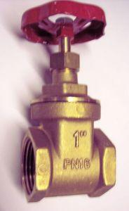 Midland Brass Brass Female X Female Wheelhead Gate Valve 1