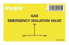 Regin Regp43 Gas Isolation Valve Sticker (Pack Of 8)