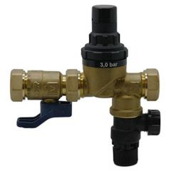 Advanced Water Reliance Water Controls Cold Water Combi Valve 3/8 Bar 22Mm