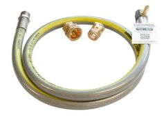 Clesse Clessinox Outlet Hose Assembly Kit With Testpoint 1/2'' X 15 And 22Mm 35Kw Stainless Steel