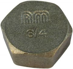 Midland Brass Brass Blanking Cap And Washer 3/4