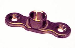 Tesla Female Back Plate 28/35/42Mm 1/4 Inch Brass