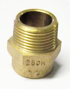 Pegler Yorkshire Yp3 Straight Male Iron Connector 28Mm X 1