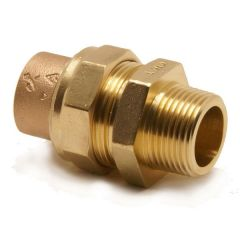 Pegler Yorkshire Yp69 Straight Male Iron Union Connector 15Mm X 1/2