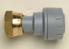 Polypipe Polyplumb Pb715 Straight Tap Connector 15Mm X 1/2