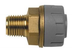 Polypipe Polyplumb Pb4315 Male Iron Straight Connector 15Mm X 1/2